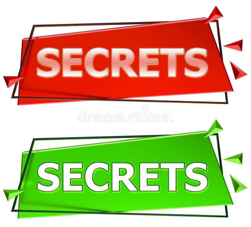 Sekretu znak ilustracji