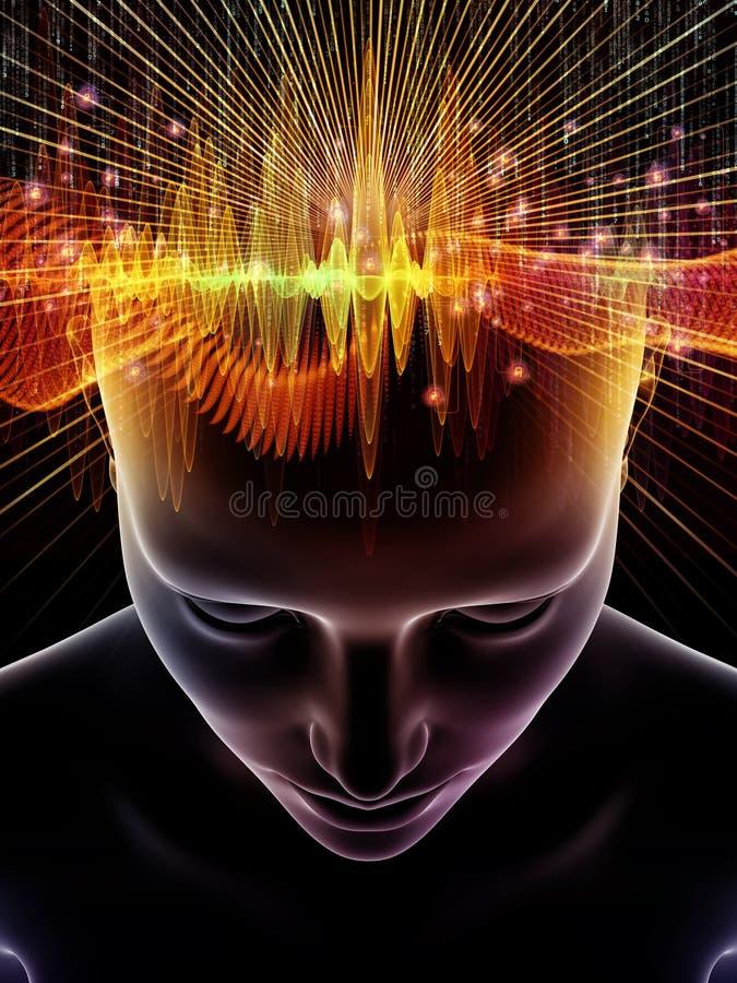 Sekrety ludzki umysł ilustracja wektor