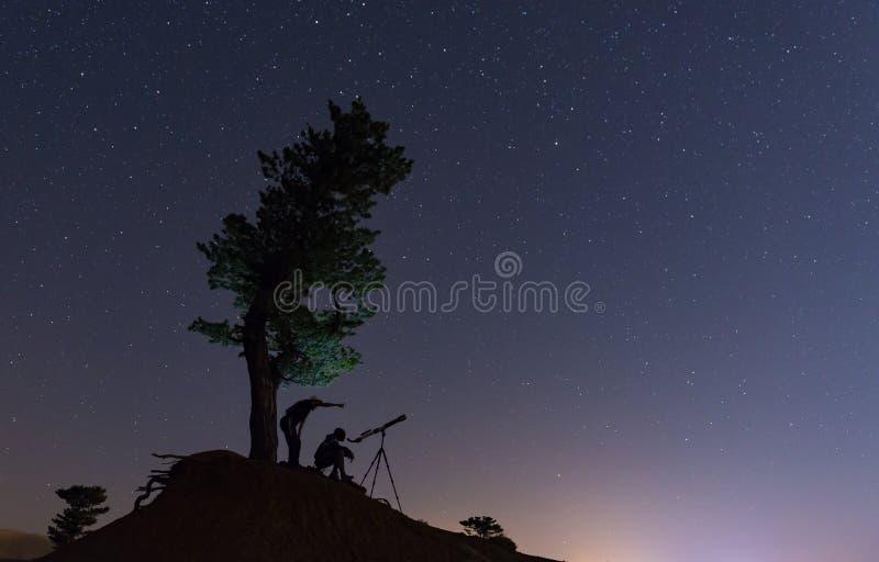 Sekrety niebo, tajemnicze planety i obserwacja, obrazy stock
