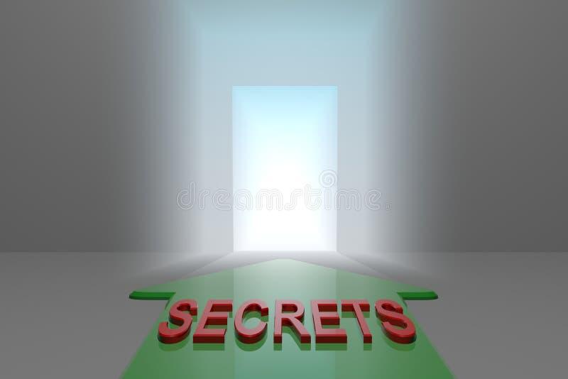 Sekrety otwarta brama royalty ilustracja