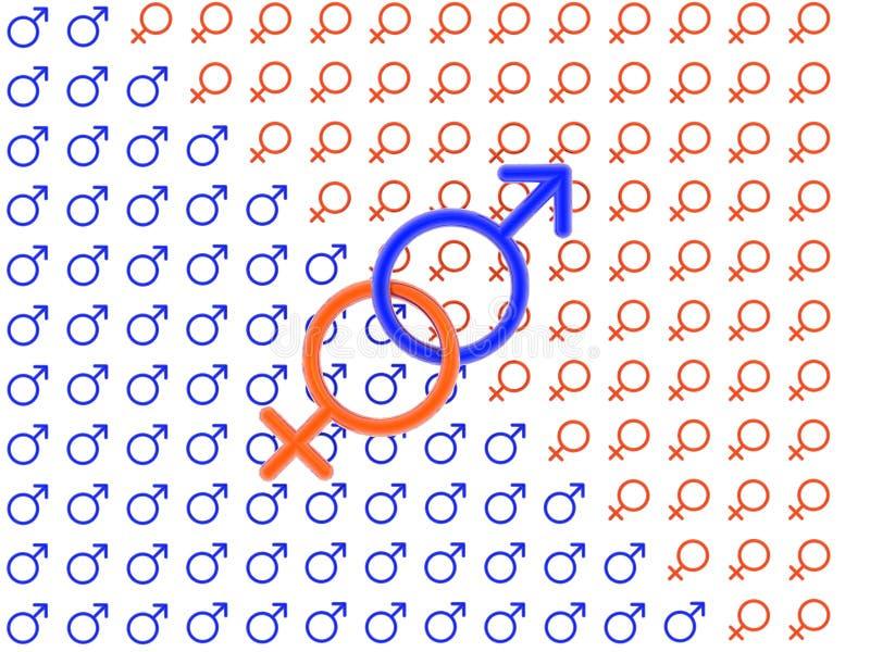 seks symbol 3 d ilustracji