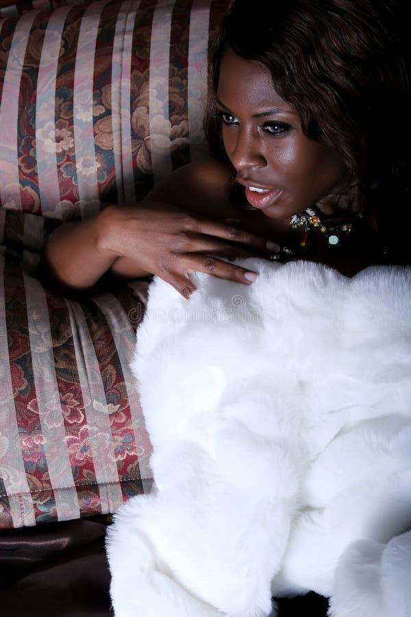 seksowna Amerykanin afrykańskiego pochodzenia kobieta zdjęcia royalty free
