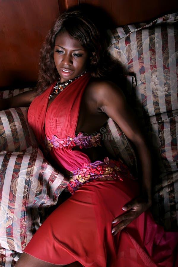 seksowna Amerykanin afrykańskiego pochodzenia kobieta zdjęcie royalty free
