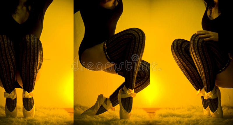 Seksowna balerina zdjęcia royalty free