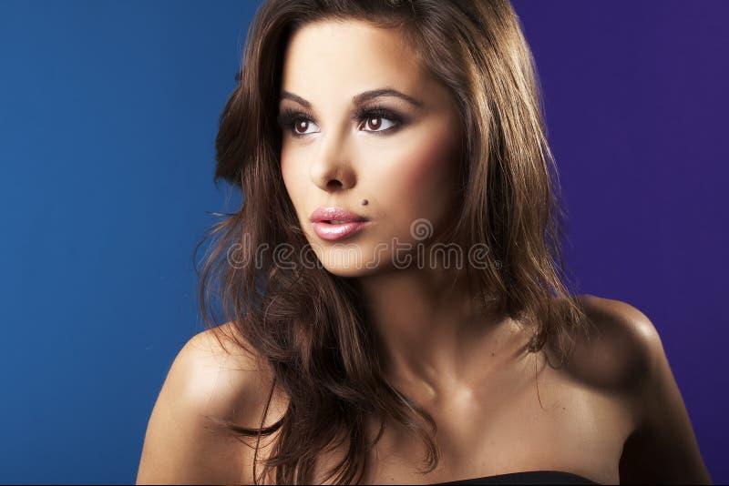 seksowna brunetki piękna dziewczyna fotografia stock