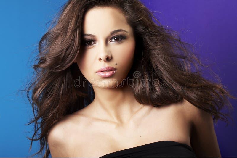 seksowna brunetki piękna dziewczyna zdjęcia stock