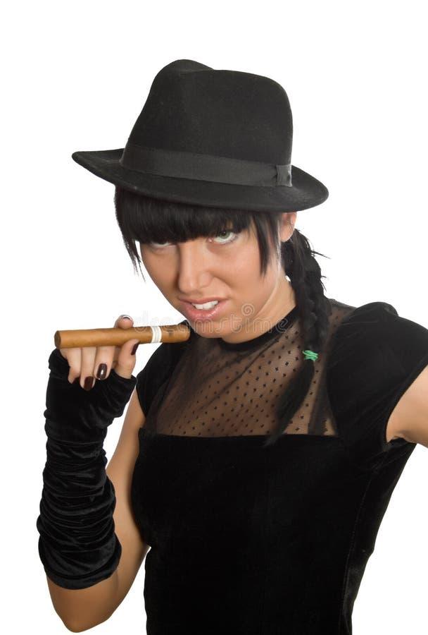seksowna cygarowa dziewczyna zdjęcie stock