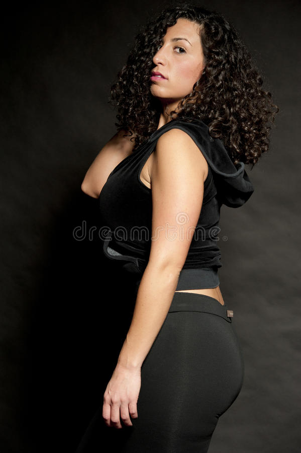 seksowna czarny brunetka obraz stock