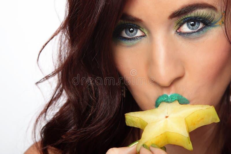 Download Seksowna Dama Je Gwiazdową Owoc Zdjęcie Stock - Obraz złożonej z tło, seymour: 28965176