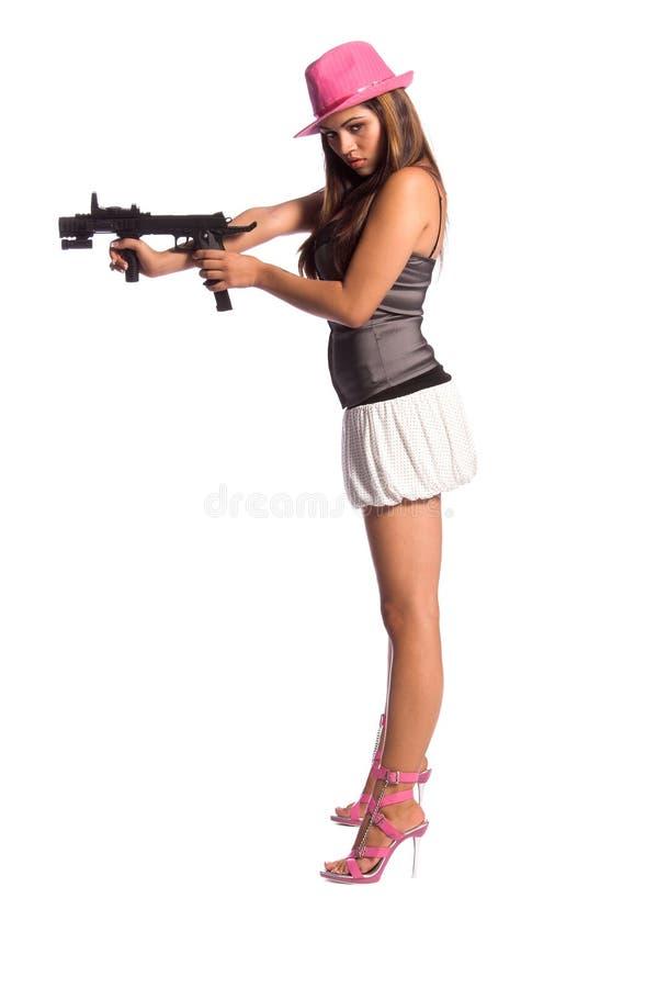 seksowna dziewczyna gangsterska zdjęcie royalty free