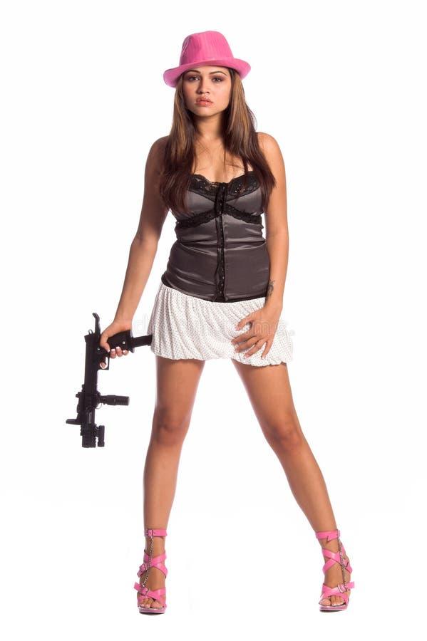 seksowna dziewczyna gangsterska obrazy stock