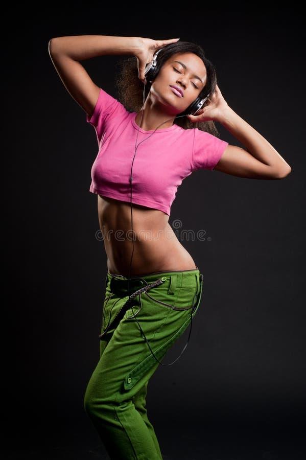 seksowna dziewczyny TARGET1714_0_ muzyka zdjęcie stock