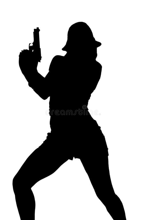 seksowna gangsterska sylwetka zdjęcie royalty free