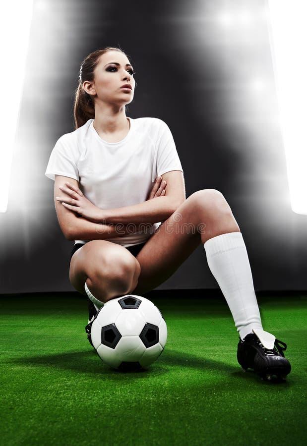 seksowna gracz piłka nożna fotografia stock