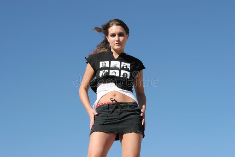 seksowna kobieta spódnicowa mini obrazy stock