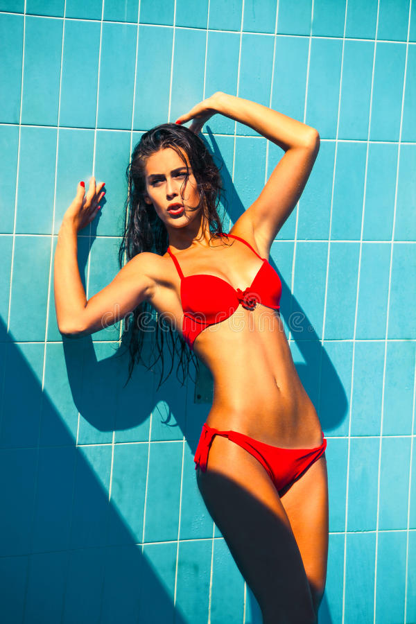 Seksowna lato kobieta obrazy royalty free