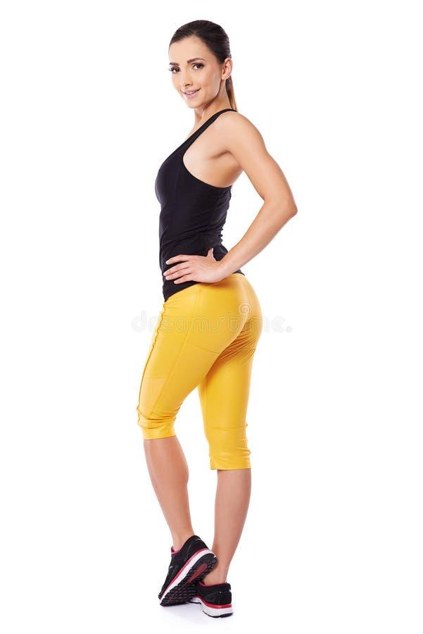 Seksowna młoda kobieta w sportswear zdjęcie royalty free
