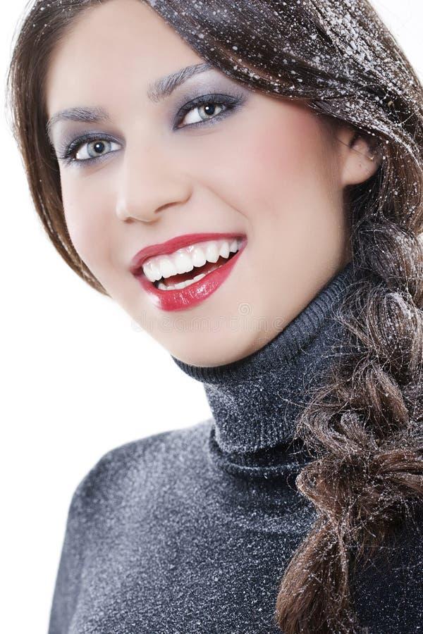 seksowna makeup zima obraz royalty free