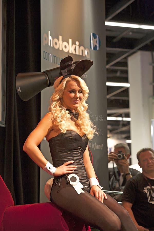 Seksowna model poza przy Photokina zdjęcie royalty free