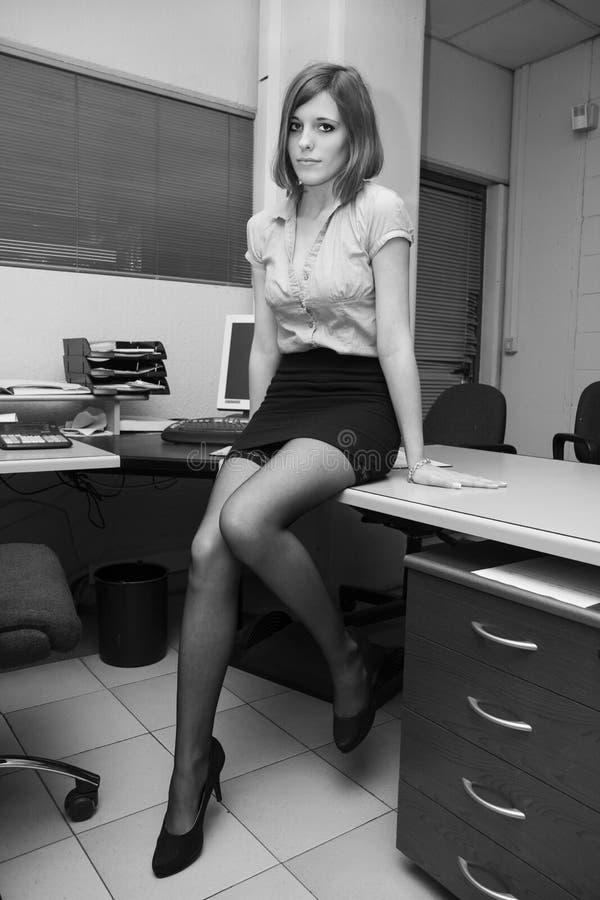 Seksowna sekretarka fotografia stock