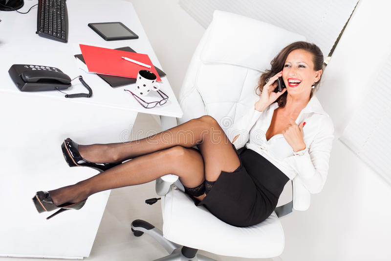 Seksowna sekretarka zdjęcia stock