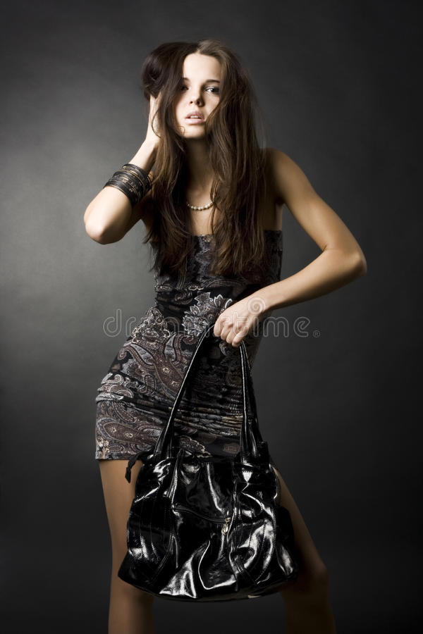 seksowna torby dziewczyna obraz royalty free