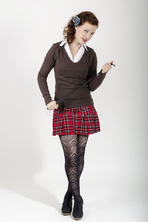 Seksowna uczennica zdjęcie stock