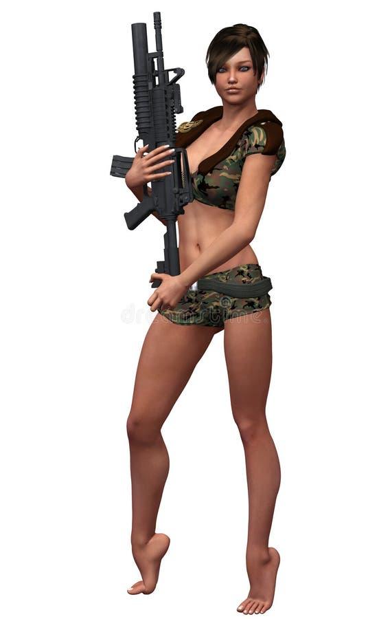 seksowna wojsko dziewczyna zdjęcia royalty free