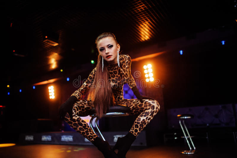 Seksowne dziewczyny w klubie zdjęcia royalty free