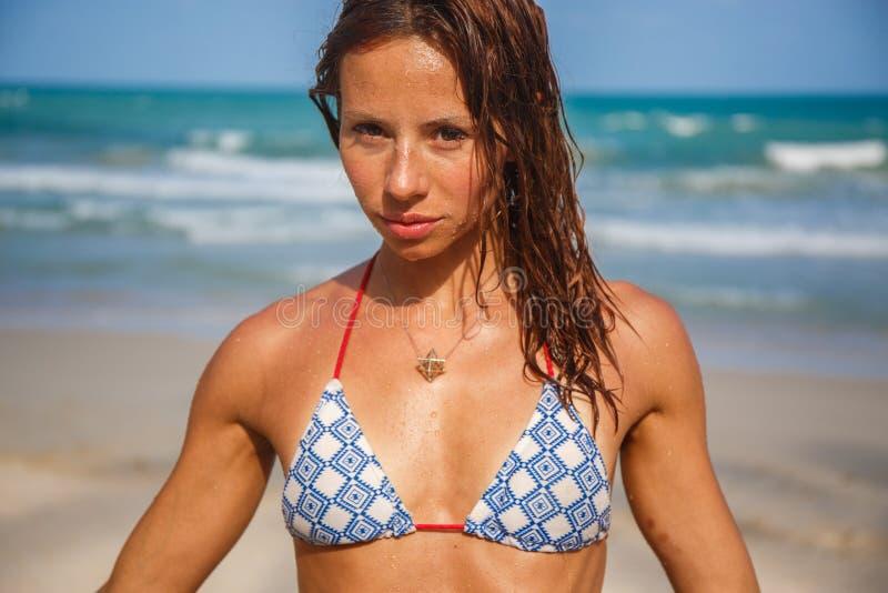 seksowne kobiety plażowa zdjęcia stock