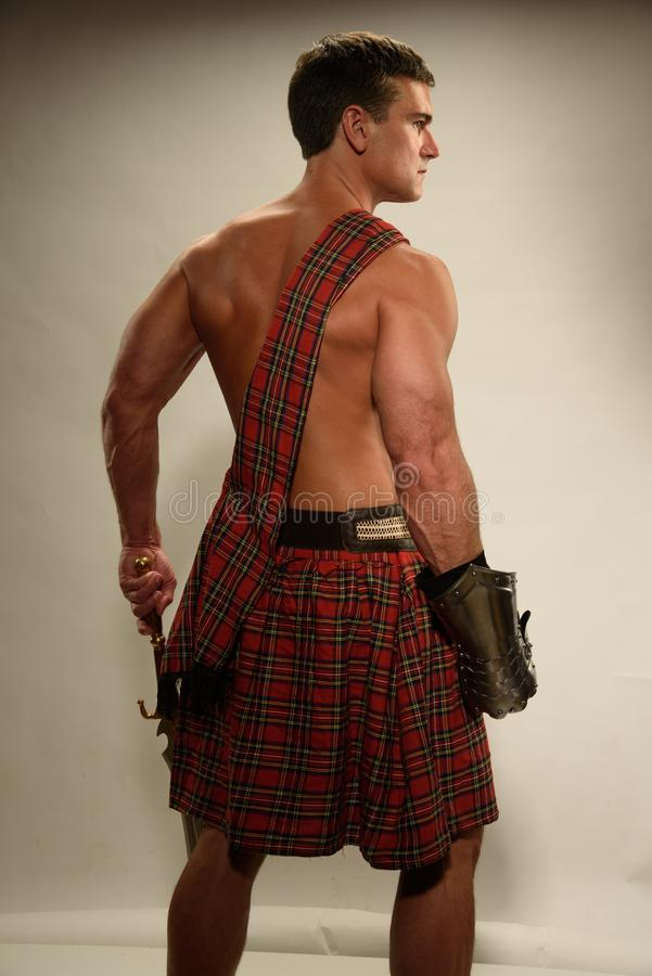 Seksowne mężczyzna pozy dla fotografii zdjęcie stock