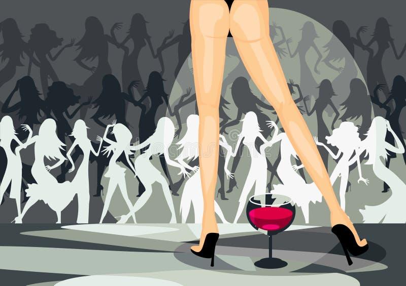 seksowne nogi royalty ilustracja