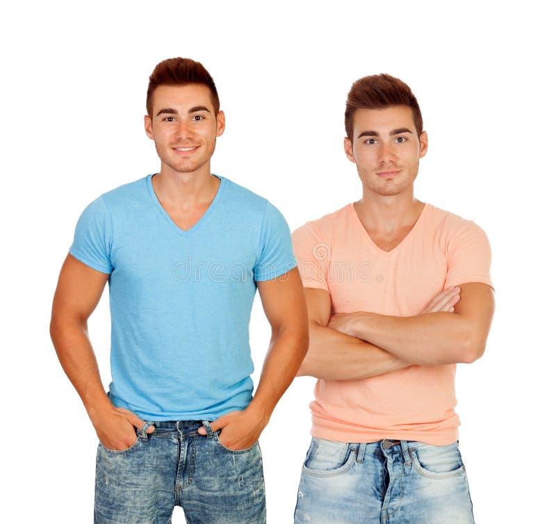 Seksowni bliźniacy z koszula fotografia stock