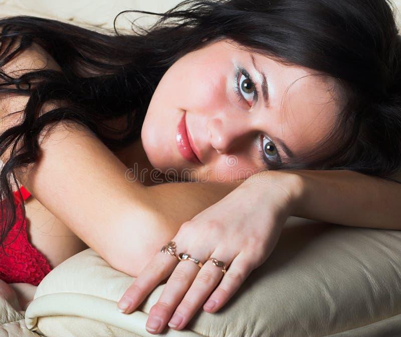 Seksowny bielizny kobiety model zdjęcia stock