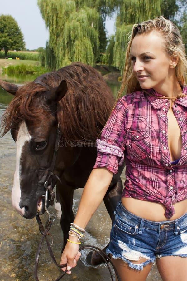 Seksowny cowgirl obraz stock