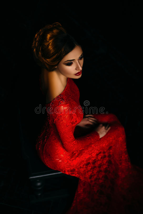 Seksowny dziewczyna wampir zdjęcia stock