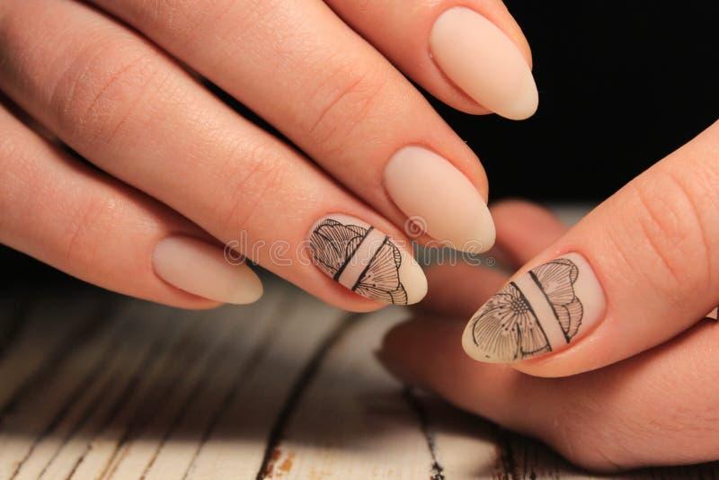 seksowny gwoździa manicure zdjęcia stock