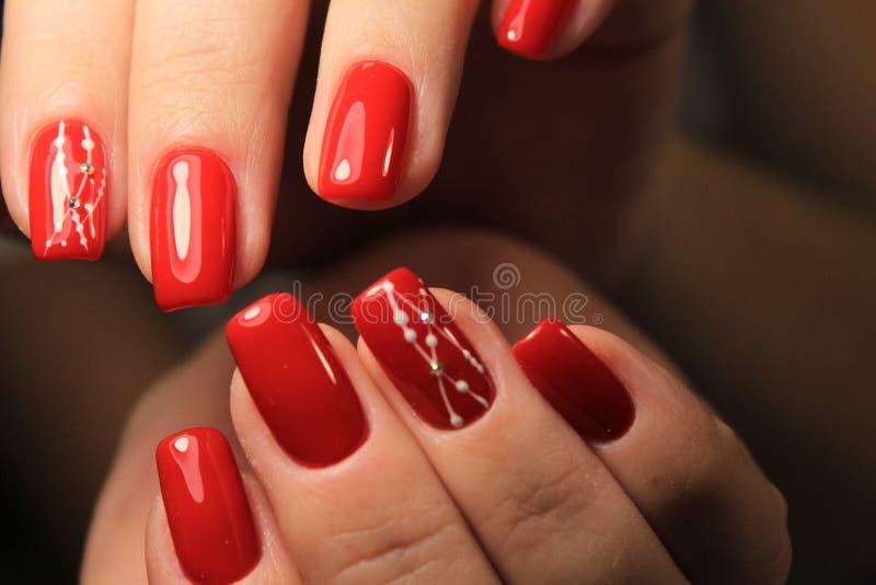 seksowny gwoździa manicure obraz stock