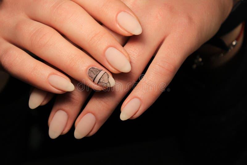 seksowny gwoździa manicure zdjęcia royalty free