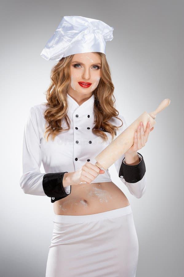 Seksowny kucharz. zdjęcia royalty free