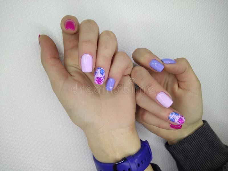seksowny menchia manicure fotografia royalty free