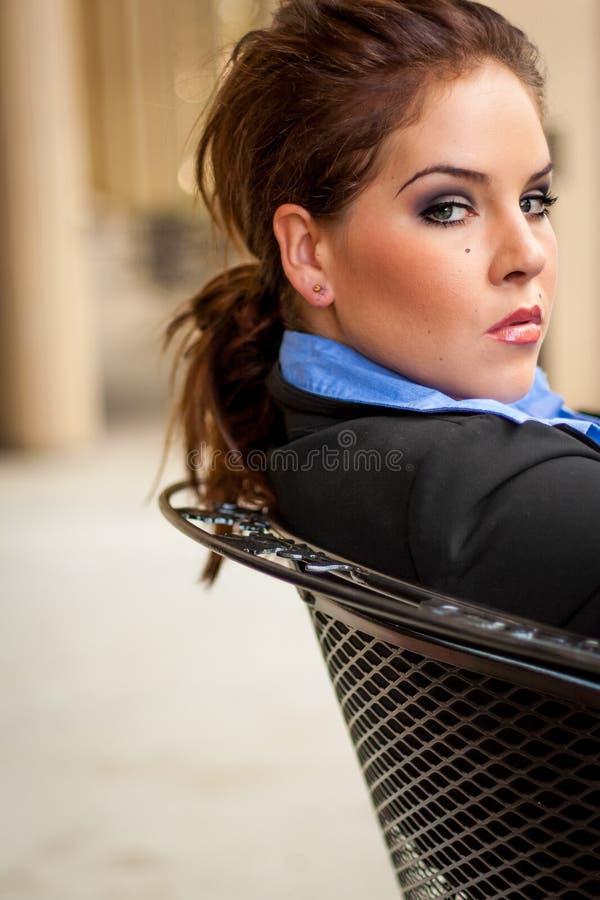 Seksowny piękny Brunete biznesowej kobiety dziewczyny damy dorosłej kobiety wea fotografia stock