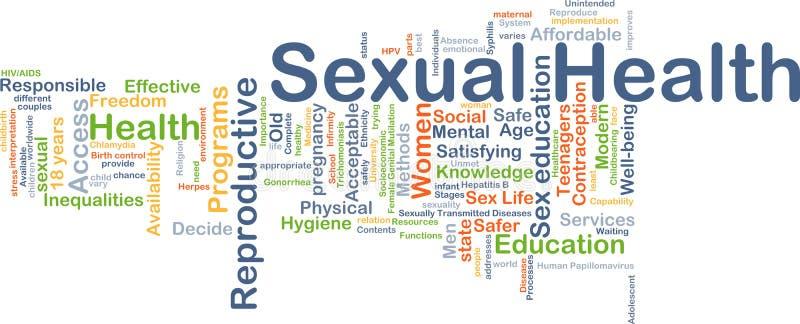 Seksueel gezondheidsconcept als achtergrond vector illustratie