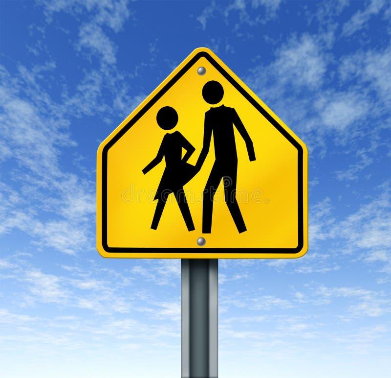 Seksueel misbruik in Scholen stock illustratie