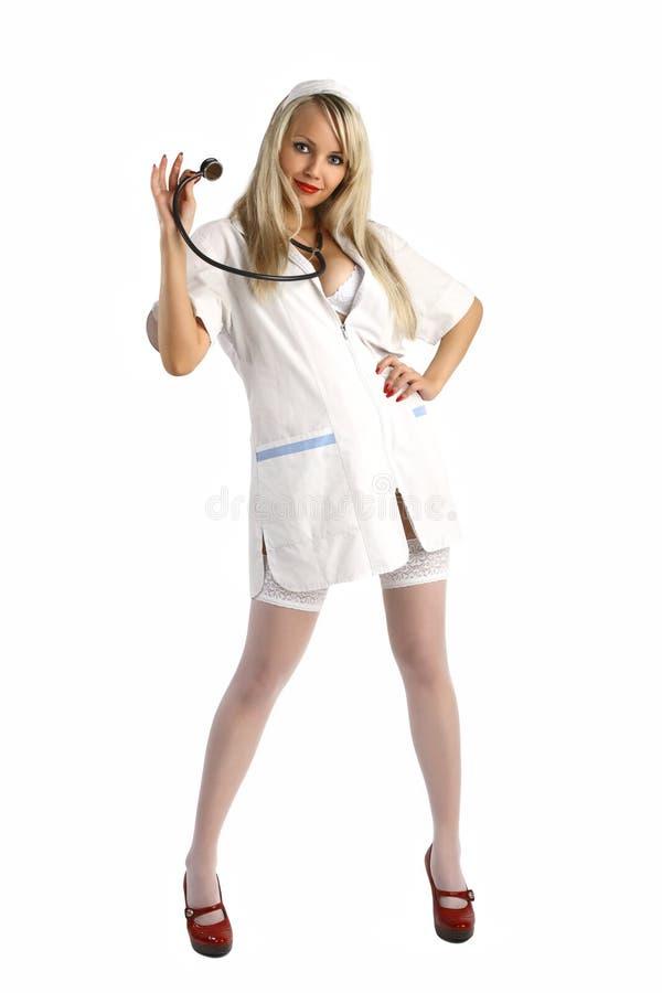 Seksuele verpleegster stock fotografie