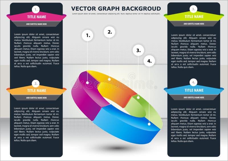 sektions- vektor för bakgrundsaffärsdiagram royaltyfri illustrationer