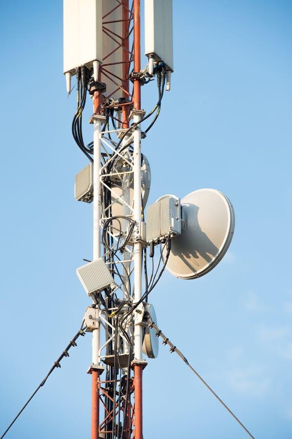 Sektoren- und Schmalbandantennen auf dem beweglichen telecommunicatio stockfotografie