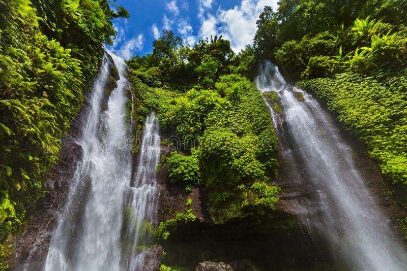 Sekumpul waterfall - Bali island Indonesia stock photo