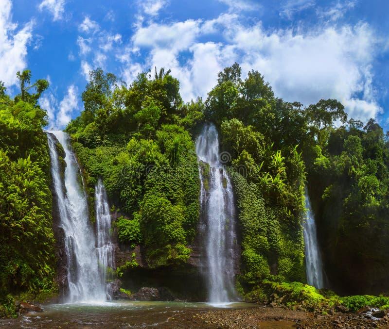 Sekumpul Waterfall - Bali island Indonesia royalty free stock photography