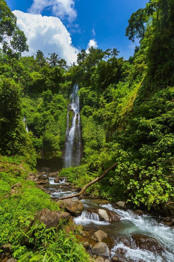 Sekumpul waterfall - Bali island Indonesia royalty free stock photo